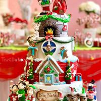 Cake Christmas with Tartdekor and Crin.sugarart