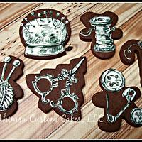 Sewing cookies (using Christmas cutters)