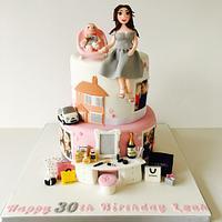 30th birthday favourite things cake