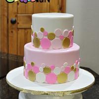 Pink and Gold circles