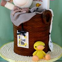 Baby Basket of Toys Cake