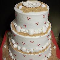 Beach Theme Tiered Cake