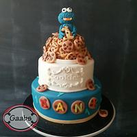 Cookiemonster cake