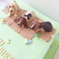 Basset Hounds Cake
