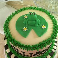 froggy cake  by Christie's Custom Creations(CCC)