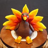 Modeling Chocolate Turkey Figurine