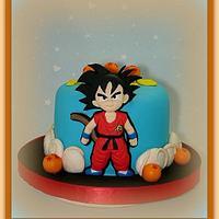 Goku kid cake