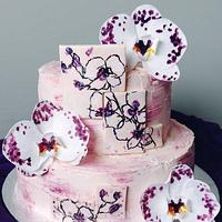 Orchids cake