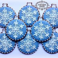 Wedgwood Snowflake  Christmas Baubles