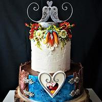 Folk wedding cake