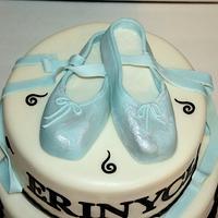 Sweet 16 ballerina Cake