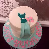 Bridal shower gown cake