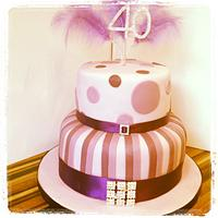 40th Birthday Cake by Gill Earle