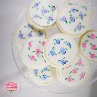 Painted Floral Cookies