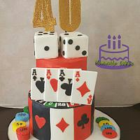 40th Vegas Cake