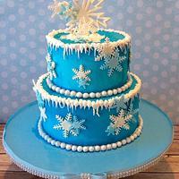 Frozen Theme Buttercream Iced Cake
