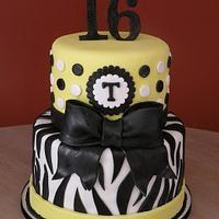Yellow Zebra Sweet 16