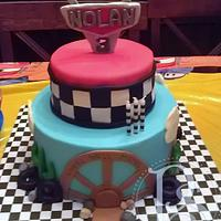 Cars Cake by Alicia