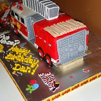Firetruck Cake by Kristen