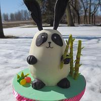 Panda Bunny Mini Cake