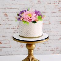 Pastel Floral Cake  by Signature Cake By Shweta