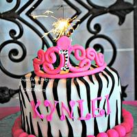 Zebra Princess ~ 1st Birthday by Sugar Sweet Cakes
