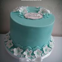 Tiffany blue with sugar flowers