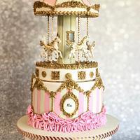 Rotating Carousel Cake