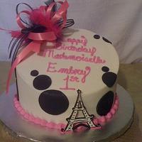 Paris Themed Cake