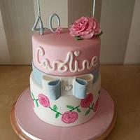 Hand painted roses for a Great British Bake Off Fan