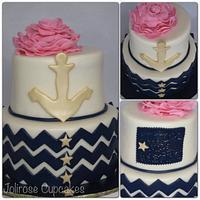 Nautical bridal shower cake by Jolirose Cake Shop