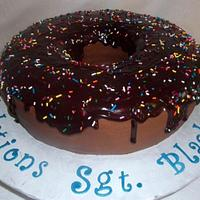 Huge Chocolate Donut by Nissa