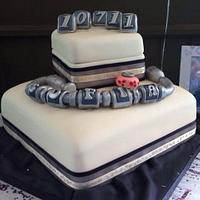 Pandora bracelet christening cake
