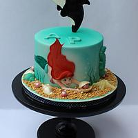 Mermaid and orca cake