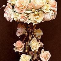 Sugar flowers made for wedding cake topper