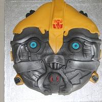 Bumblebee Transformers cake by Sue