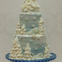 My Wintry Christmas Cake