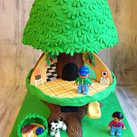 Treehouse cake / childhood memories