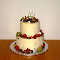 Buttercream birthday cake