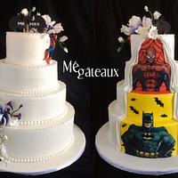 Two sides wedding cake