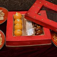 The Indian Sweet Box cake!