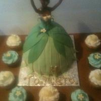 princess tiana doll cake