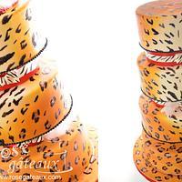 Gâteau de mariage léopard/ Wedding cake leopard