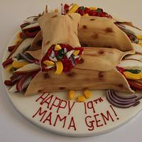 Chicken Fajita Birthday Cake!!