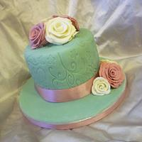 Vintage embossed mini cake by The Faith, Hope and Charity Bakery