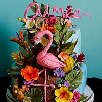 Aimee's Tropical birthday cake