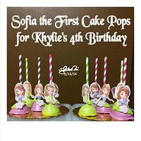 Sofia the First Cake Pops 2.15.14