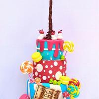 Wonka theme wedding cake