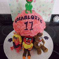 Muppets Giant Cupcake by Rachael