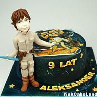 Star Wars Luke Skywalker Birthday Cake